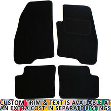 For Fiat Grande Punto 2006-2012 Fully Tailored 4 Piece Black Car Mat Set