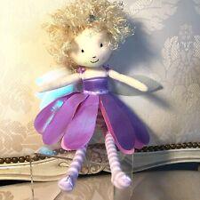 """Jellycat 12"""" LIZZIE Flutter Fairy Pixie Purple Plush Toy Doll Rare MINT"""