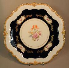 Prunkteller Reichenbach Teller bunte Blumen Gold Kobalt Ornamente  Barock 33cm
