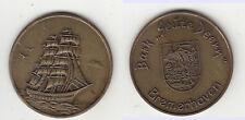 Bremerhaven Medaille Schiff Ship Segelschiff gebraucht ca. 41 mm ca. 17,60 g