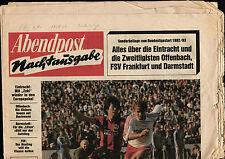 BL 82/83 Eintracht Frankfurt - Bayern München, Sonderbeilage 11.08.1982