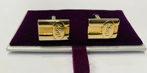 YSL Gold-Plated Cufflinks