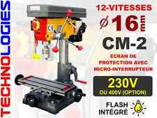 PERCEUSE FRAISEUSE A COLONNE Ø 16 mm 230V ou 400V - NEUF ! 12 vitesses!