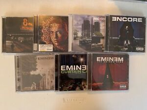 EMINEM CD LOT OF 7! ENCORE,RELAPSE,RECOVERY,MARSHALL,8 MILE,SHOW,CURTAIN CALL!
