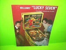Williams LUCKY SEVEN 1978 Original Flipper Arcade Game Pinball Machine Flyer