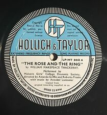 """The Rose & the Ring by William Makepeace Thackery Private Press 10"""" Musical LP"""