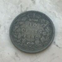 1899 Canada 10 Cents - Silver