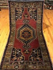 Natural Dyes 3'x5ft Antique,Wool Pile Tribal Rug Cappadocia Turkey