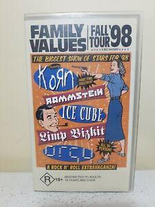 Family Values Fall Tour 98. VHS. Korn, Limp Bizkit, Rammstein.