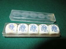 Vintage Continental Poker Dice Set in box EX COND. signs of wear/use