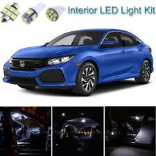 8pcs Xenon White Interior LED Light Package Kit Deal For Honda Civic 2013-2018