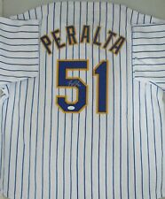 Brewers Pitcher FREDDY PERALTA Signed Custom Replica Retro Jersey AUTO - JSA