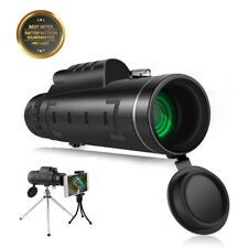 SGODDE 12X50 HD Optics Waterproof Monocular Telescope w/ Phone Clip Tripod UK