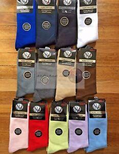 12 Pairs 6-11 Premium Quality Pure Cotton Plain School Socks Dress/Work Socks