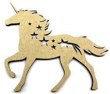 Unicorn Cutout Pack of 5 10cm Embellishments - Craft Shapes 3mm MDF Stars