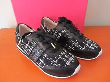 Kate Spade New York - Sidney Sneakers - Black / White Tweed - Size 8M - NEW