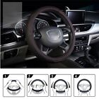 Car Genuine Leather Steering Wheel Cover 38cm Cowhide Auto SUV Wheel Wrap Cover