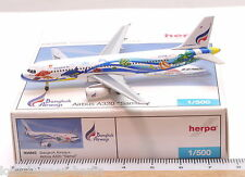 HERPA 504683: BANGKOK AIRWAYS Airbus A320 SAMUI, Reg. HS-PGW  scale 1:500/ 957