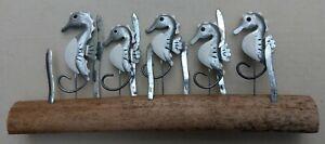 School Of Seahorses On Wood By Shoeless Joe   Coastal Ornament
