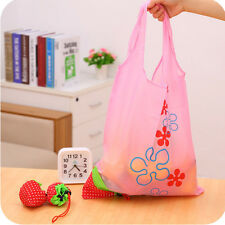 New Simple Strawberry Nylon Folding Reusable Compact Shopping Bag Carrier Gift