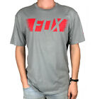 FOX. Standard Fit. Grey / Red. Mens Short Sleeve T-Shirt. Size: S, L, XL.