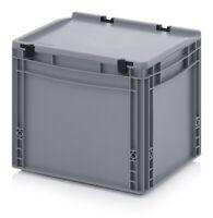 Eurobehälter 40x30x33,5 mit Deckel Stapelbehälter*Lagerbox*Stapelbox*400x300x335
