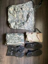 US Army NFR CBRN MOPP Suit Medium-Regul ACU Coat/Trouser/Overboots/Gloves JSLIST