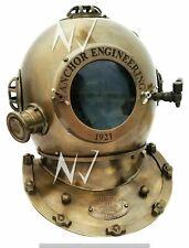 "Vintage Antique 18"" Diving Divers Helmet deep sea anchor engineering 1921"