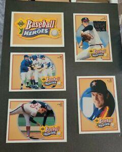 1991 Upper Deck Nolan Ryan Heroes 10 Card Set 10-18 Plus Header SP
