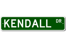 KENDALL Street Sign - Personalized Last Name Sign
