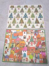 """Caspari Paper Christmas Place Mats - 16 mats in 2 designs - 16 x 12"""" Denmark"""
