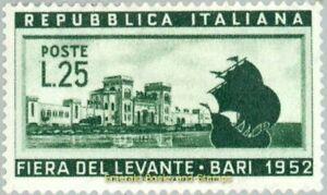 EBS Italy 1952 - Bari Fair - Fiera di Levante - Unificato 695 MNH**