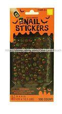 HAPPY HALLOWEEN 100pc Nail Stickers STARS+SKULLS+CROSSBONES+BATS New! 2/2