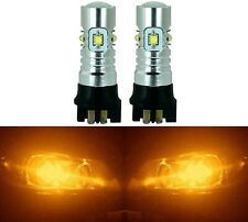 LED 30W 12177 PW16W Orange Amber Two Bulbs Back Up Reverse Light Audi BMW