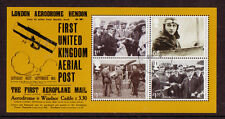 GREAT BRITAIN 2011 FIRST UNITED KINGDOM AERIAL POST MINIATURE SHEET FINE USED