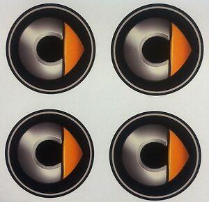 4x 60mm fit SMART mercedes wheel STICKERS center badge centre trim cap hub alloy