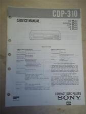Sony Service Manual~CDP-310 CD Compact Disc Player~Original~Repair