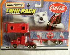 Matchbox 1999 Coca Cola Polar Bear Truck & Van Diecast Car Toy New Mattel Wheels