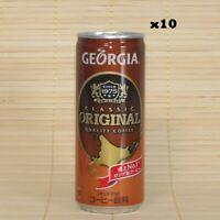 Coca Cola Japan, Georgia Original 250ml in a Can, Japanese Coffee (Pack of 10)