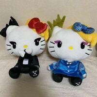 Yoshikitty Hello Kitty X JAPAN Yoshiki Plush Doll 2 Set Big Size Stuffed Japan