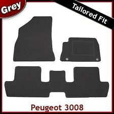 Peugeot 3008 Mk1 2009-2016 Tailored Fitted Carpet Car Floor Mats GREY