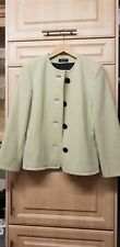 Apanage Ladies Wool/ Cashmere Mix Jacket Size 10 Light Green