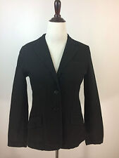 Ralph Lauren Stretch Denim Jacket Blazer BLACK Size  14
