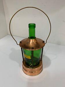 Musical Green Bottle Lantern Liquor Decanter.