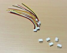 5 PAIRS - 4 PIN Micro JST ZH 1.5mm Pitch 100mm Cables