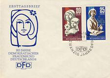 Ersttagsbrief DDR MiNr. 1256-1257, 20 Jahre Demokratischer Frauenbund Deutschlan