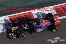 decal abu dhabi GP 2014 Spielberg Toro rosso Vergne Kvyat 1/43 mincihamps spark