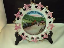 "New ListingVintage Tweetsie Railroad Souvenir Plate 8"" Collector's Decorative Gold/Pink"