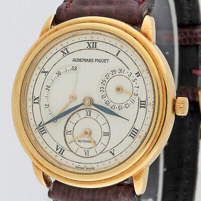 Audemars Piguet 18K Gold Dual Time Automatic 25685BA Watch 36mm Box & Paper