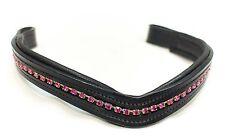 Delfina Custom Pink Crystal Rhinestone Dressage Browband Horse English Bridles